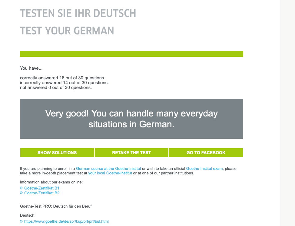 Test Goethe